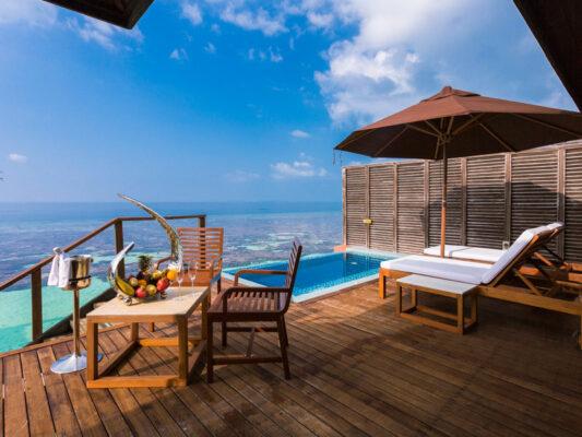 Lily Beach Resort Terrasse