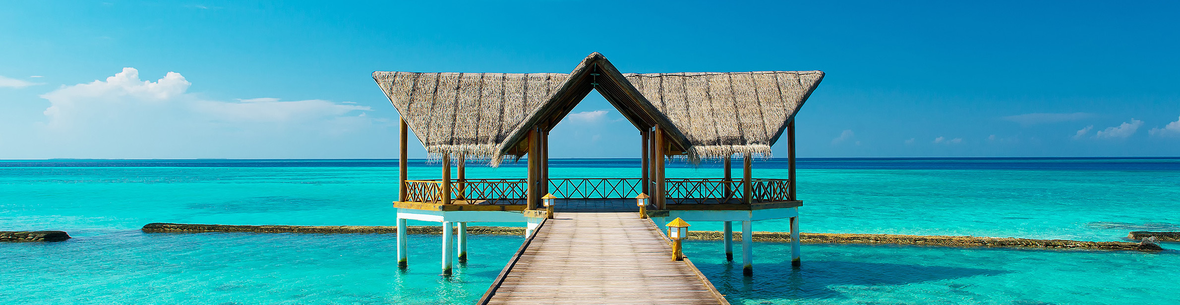 Malediven Steg Meer