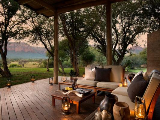 Marataba Safari Lodge Terrasse