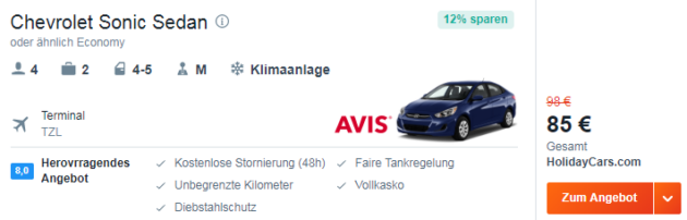8 Tage Fly & Drive
