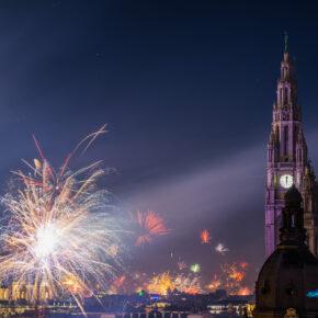 Österreich Wien Feuerwerk