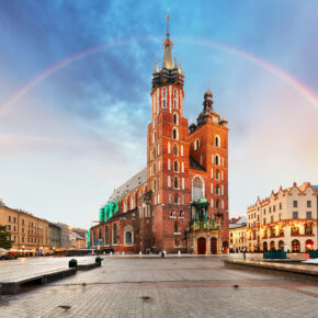 Polen Krakow St Marys Basilica