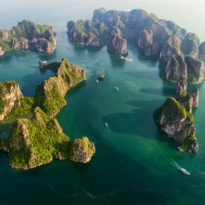 Vietnam Halong Bucht Overview