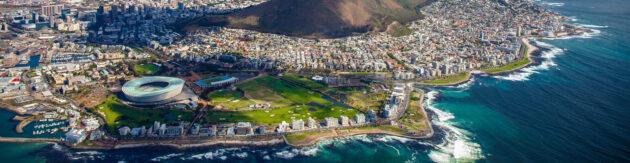 Südafrika Kapstadt von oben Panorama
