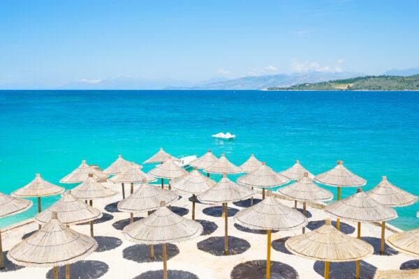 Albanien Ksamil Beach Liegen