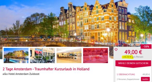 Amsterdam Hotelgutschein