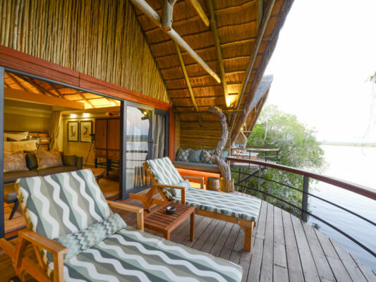 Chobe Water Villas Balkon