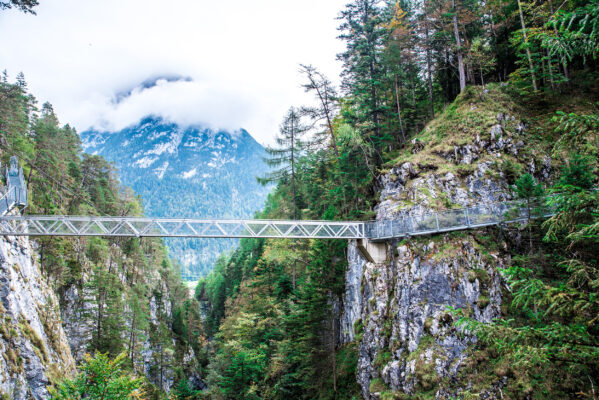 Deutschland Alpen Leutaschklamm Brücke
