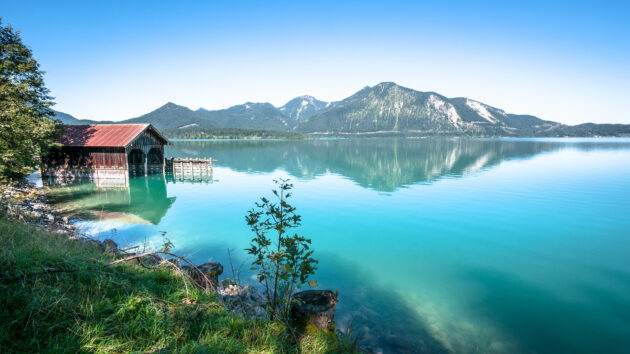 Deutschland Bayern Walchensee Fischer Hütte