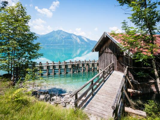 Deutschland Bayern Walchensee Hütte