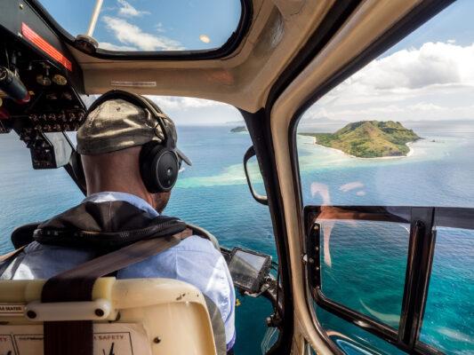 Fidschi Helikopter oben