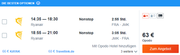 Flug Frankfurt Mykonos