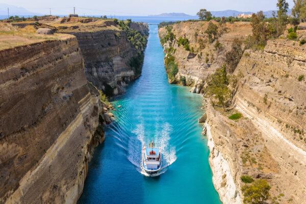 Griechenland Korinth Kanal