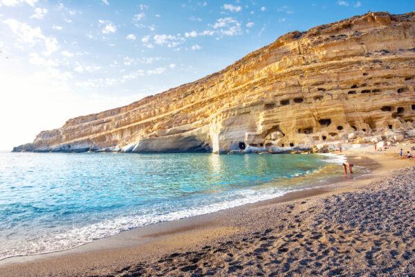 Griechenland Kreta Matala Beach