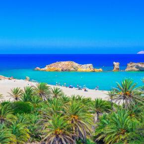 Im Sommer nach Kreta: 6 Tage mit TOP 4* Hotel, Frühstück, Flug, Transfer & Zug nur 327€