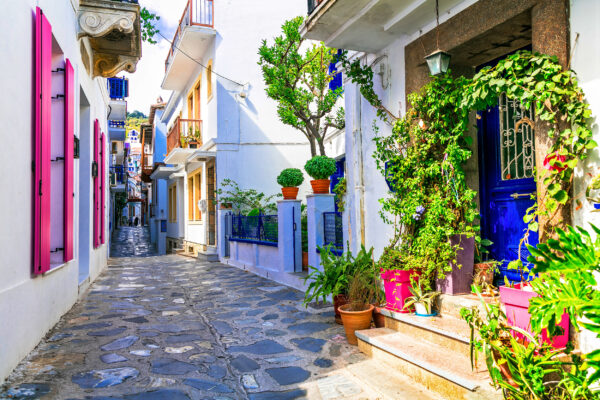 Griechenland Skopelos Gasse