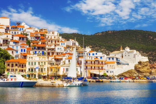 Griechenland Skopelos Haeuser