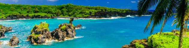 Hawaii Maui Road to Hana Panorama
