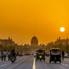 Indien Delhi Straße