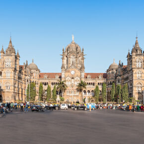 Indien Mumbai Bahnhof