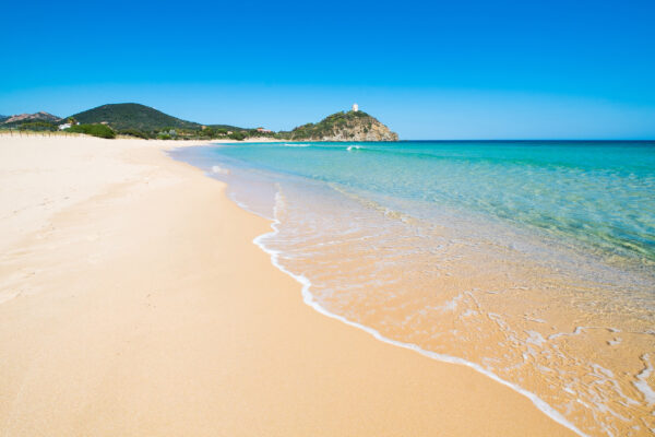 Italien Sardinien Chia Beach