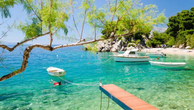 Kroatienv Dalmatia Makarska Riviera Brela