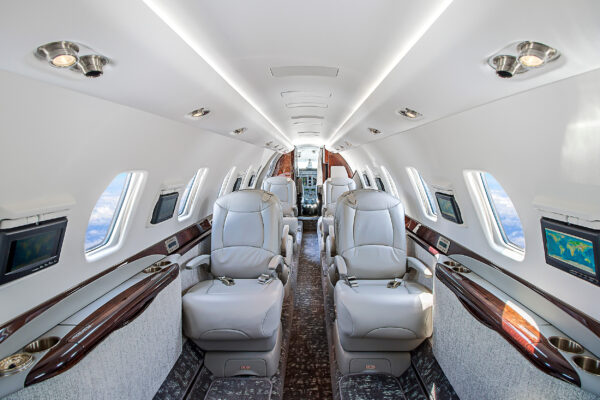 Luxus Privatjet Sitze