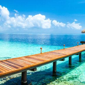 Malediven Wassersteg Panorama