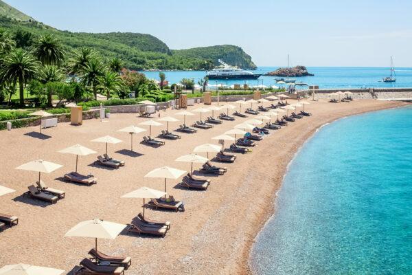 Montenegro Sveti Stefan Island Beach