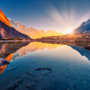 Nepal Himalaya Sonnenuntergang