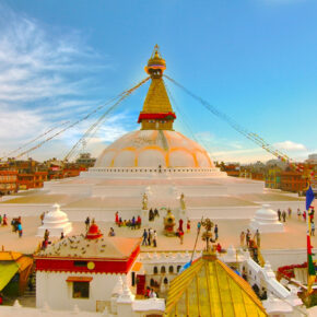 Nepal Kathmandu Stupa Sunset