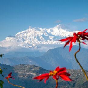 Nepal Pokhara Himalaya Ausblick