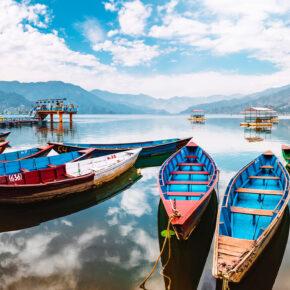 Nepal Pokhara See Lake Phewa