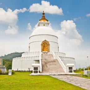 Nepal Pokhara World Peace Pagoda