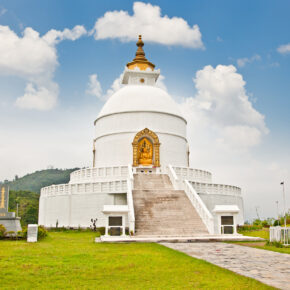 Nepal Pokhara World Peace Pagoda