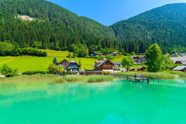 Österreich Weissensee Aussicht