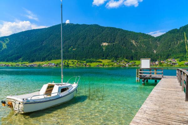 Österreich Weissensee Boot