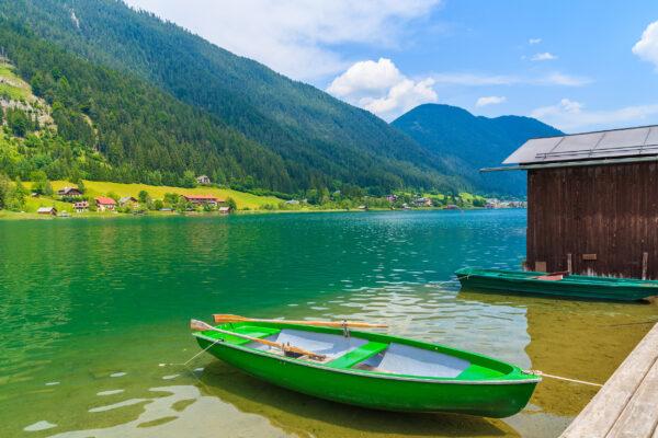 Österreich Weissensee Ruderboot