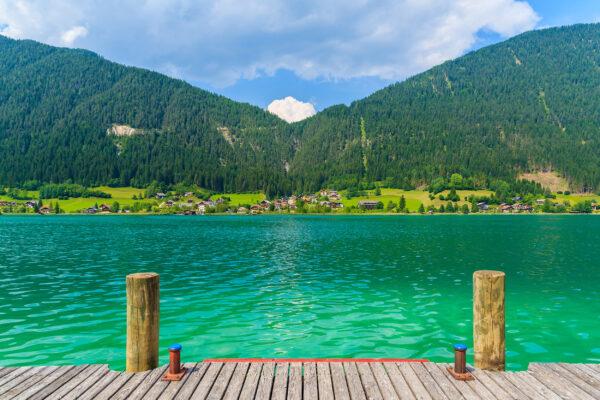 Österreich Weissensee Steg Berge