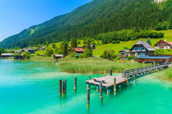 Österreich Weissensee Steg Hütte