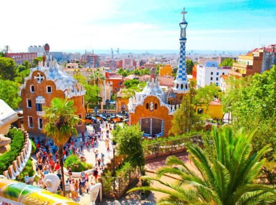 Spanien Barcelona Antoni Gaudi Park Guell