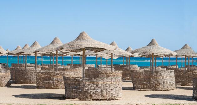 Tunesien Djerba Strandkörbe