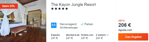 13 Tage Bali Hotel