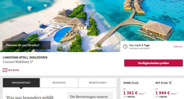 7 Tage Malediven