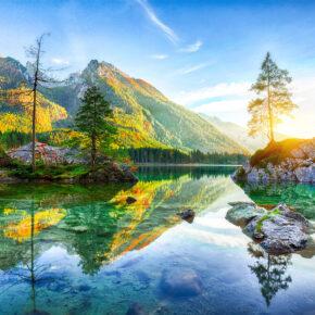 Bayern: 2 Tage übers Wochenende am Hintersee im guten Hotel mit Frühstück & Panoramblick nur 39€
