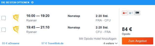 Frankfurt nach Korfu