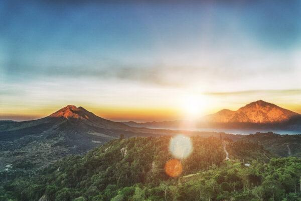 Indonesien Bali Batur Sonnenaufgang