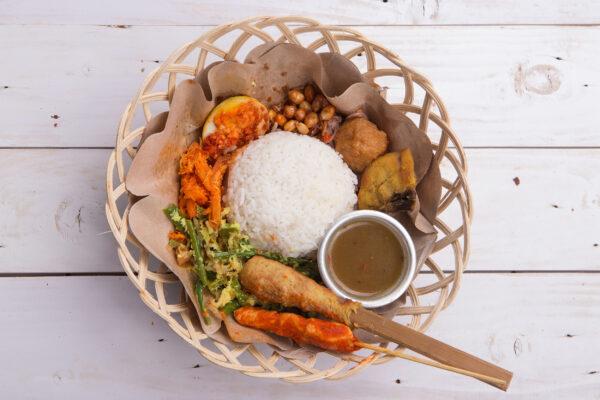 Indonesien Essen Nasi Campur
