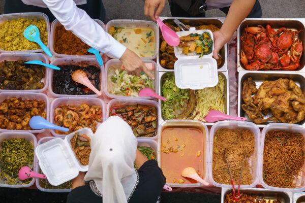 Indonesien Nachtmarkt