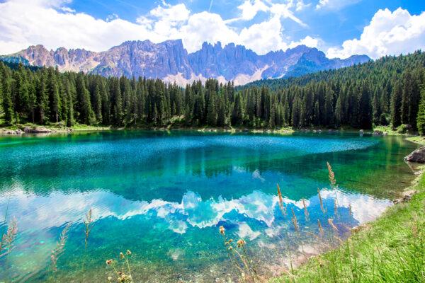 Italien Dolomiten Karersee Wasser